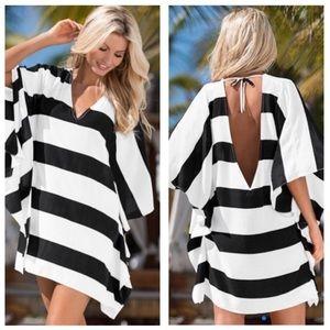Venus Swimwear Striped Coverup Size Small/Medium
